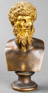 19th C. Gilt Bronze Bust of Lucius Verus