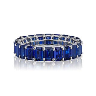 7.23CT ROYAL BLUE SAPPHIRE ETERNITY BAND