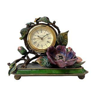 Jay Strongwater Enameled Desk Clock