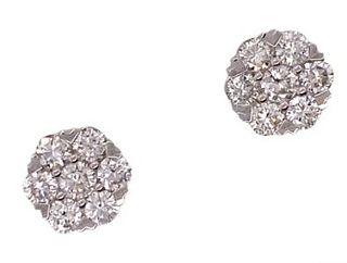 3.00ct Diamond Flourette Stud Earrings