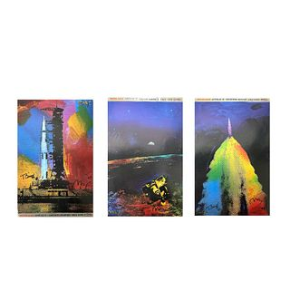 Peter Max Apollo 11 Launch Complex Signed Prints