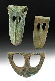 Ancient Canaanite Bronze Duckbill Axe Heads (3)