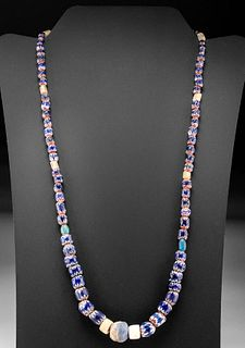 17th C. Venetian Glass Bead, Sodalite & Shell Necklace