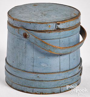 Painted pine firkin, 19th c.