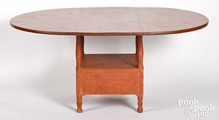 Painted chair table, 19th c.
