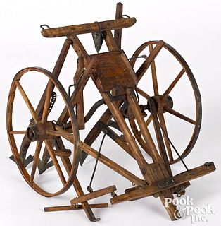 Patent model for a sulky cultivator