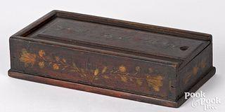 Pennsylvania painted poplar slide lid box, 19th c