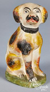 Pennsylvania chalkware dog, 19th c.