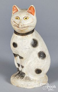 Pennsylvania chalkware cat, 19th c.