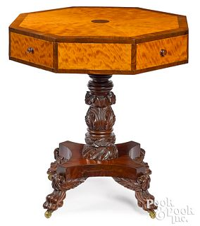 Pennsylvania Federal carved drum table