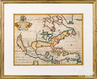 Michael Burghers color engraved map