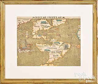Sebastian Munster color engraved map
