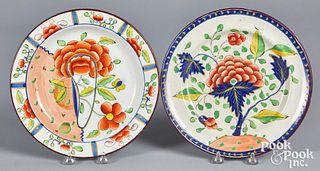 Two Gaudy Dutch plates