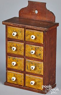 Lancaster, Pennsylvania painted seed cabinet