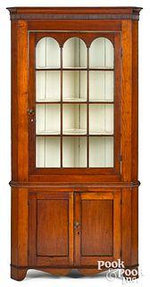 Pennsylvania Federal cherry corner cupboard