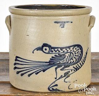 New York four-gallon stoneware crock