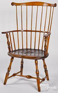 Pennsylvania combback Windsor armchair, ca. 1790