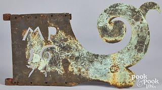 Copper bannerette weathervane