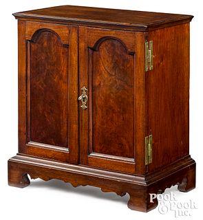 Pennsylvania Queen Anne walnut spice cabinet