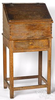 New England pine desk on stand