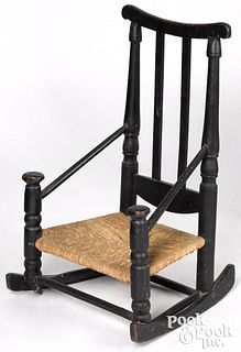 New England William and Mary childs rocking chair