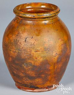 New England redware crock