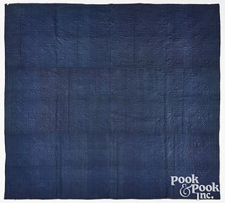 New England indigo Linsey woolsey quilt