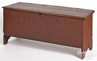 New England Queen Anne painted pine blanket chest