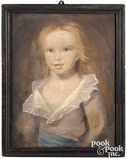 Attributed to Samuel Broadbent portrait of a chil