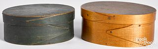 Two Shaker bentwood boxes