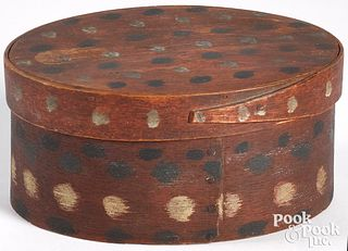 American painted bentwood box