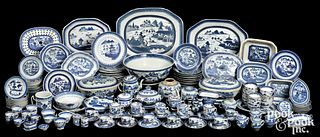 Large Chinese export porcelain Canton service