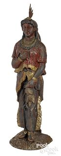 Painted cast iron counter top tobacconist figure