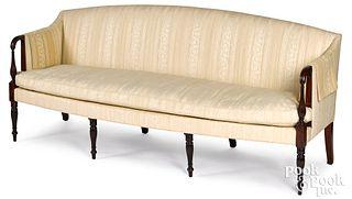 New England Sheraton mahogany sofa, ca. 1815