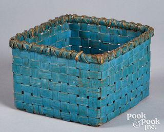 Painted basket ,19th c.
