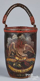 Massachusetts painted leather fire bucket