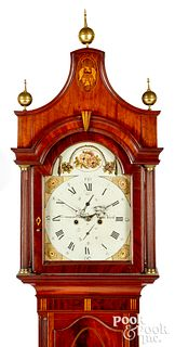 New York Federal mahogany tall case clock
