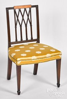 New England Federal mahogany dining chair