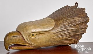 Carved and painted eagle figurehead, 19th c.