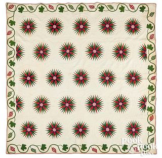 Mariners Compass quilt, 19th c.