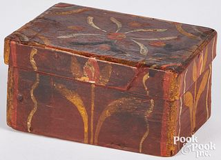 Small Continental painted pine dresser box
