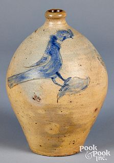 New England stoneware ovoid jug, early 19th c.