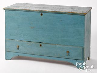 New England painted pine blanket chest