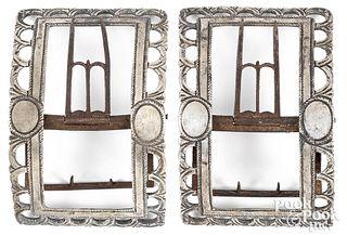 Pair of Philadelphia silver shoe buckles