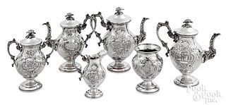 Silver plated tea and coffee service