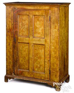 Pennsylvania painted pine cupboard, ca. 1800
