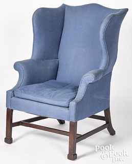Chippendale mahogany easy chair, ca. 1780