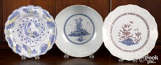 Three pieces of Delft