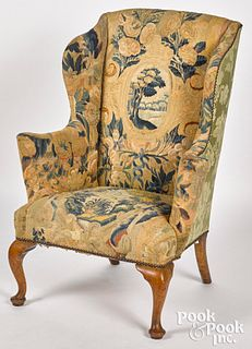 George II mahogany wing chair, ca. 1760