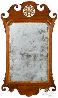 Georgian mahogany looking glass, ca. 1770